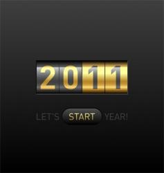 digital counter 2011 vector image