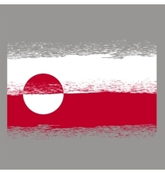 Flag of Greenland vector image vector image