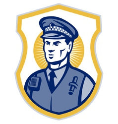 police officer policeman security guard set i vector image vector image