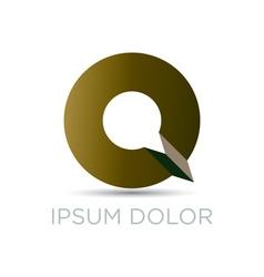 Q letter modern emblem vector image