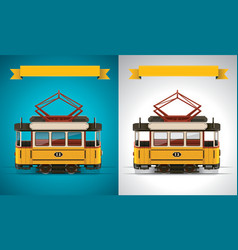 retro tram xxl icon vector image