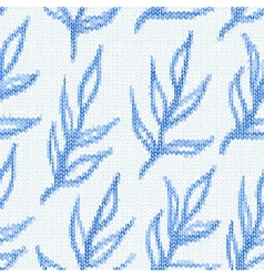 Seamless pattern with textile branches Knitted vector image