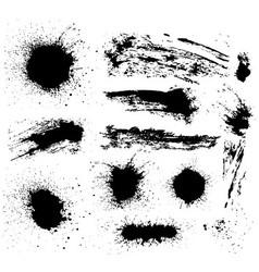 Set of grunge elements vector image vector image