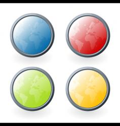 world glossy buttons vector image