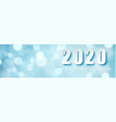 2020 blue christmas typography design winter vector image