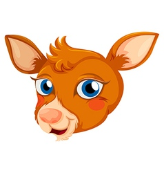 A head of a deer vector image