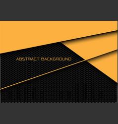 abstract yellow dark grey hexagon mesh overlap vector image