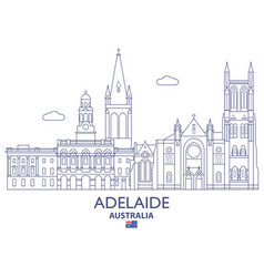 Adelaide city skyline vector