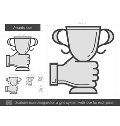 Awards line icon vector