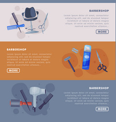 barbershop landing page templates with hairdresser vector image