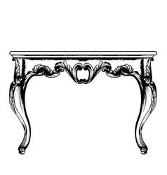 Baroque rich coffee table classic royal vector