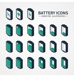Battery web icons symbol sign and design elements vector image