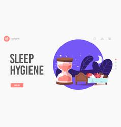 Biological clock night dream nap time sleep vector