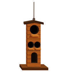 birdhouse with four holes vector image