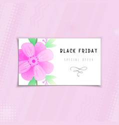 Black friday sale flower banner vector