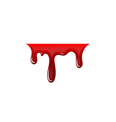 blood drip 3d drop blood isloated white vector image
