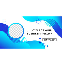 Business conference banner template vector