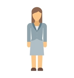 Business woman silhouette vector image