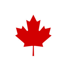 Canada maple leaf icon simple vector