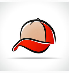 cap design on white background vector image
