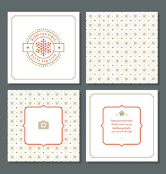 christmas greeting card design and pattern vector image