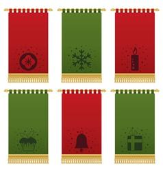 Christmas wall hangings vector