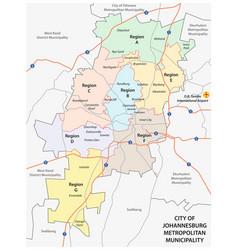 city of johannesburg metropolitan municipality vector image