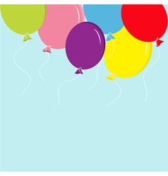 Colorful balloon set in the sky Greeting card back vector image