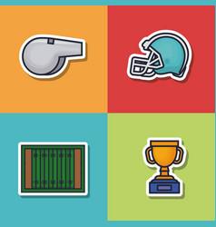 Colorfull american football icon vector