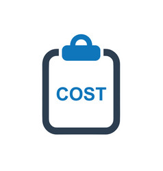 Cost statement icon vector