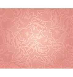Decorative pink pattern vector image