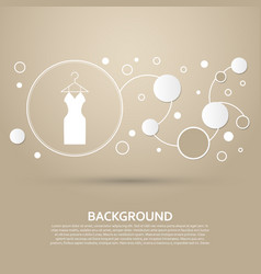 dress icon on a brown background with elegant vector image