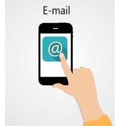 E-mail flat concept vector