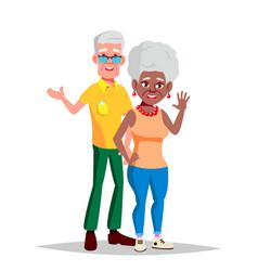 Elderly couple modern grandparents vector