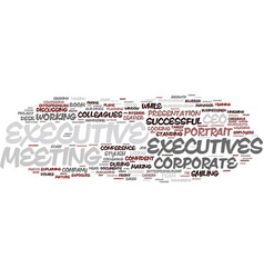 Executive word cloud concept vector