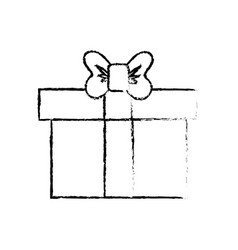 figure box of present gift with ribbon design vector image