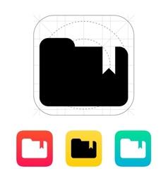 Folder bookmark icon vector image