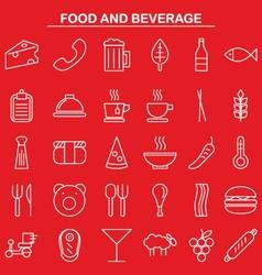 Food and beverage linear icon style vector