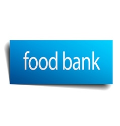 food bank blue paper sign on white background vector image