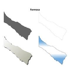 Formosa blank outline map set vector image
