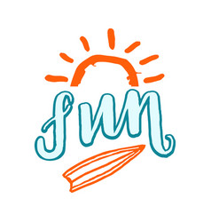 fun lettering surf vector image