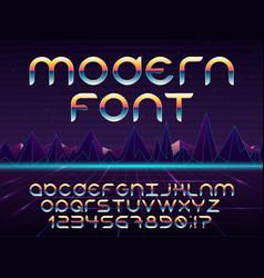 Futuristic font vector