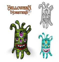 Halloween monsters spooky creature eps10 file vector