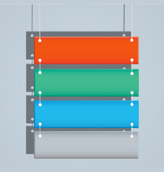 hanging banner for web design vector image