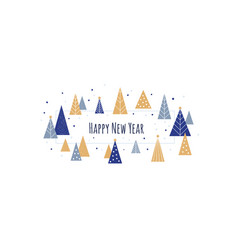happy new year - winter banner background vector image