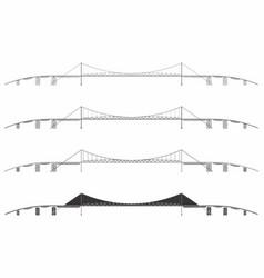 Hercilio luz bridge skyline vector