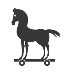 Horsemanship icon design vector