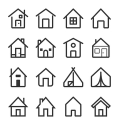 House Icon Set 2 vector image