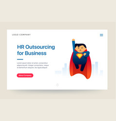 Hr outsourcing company website template super vector