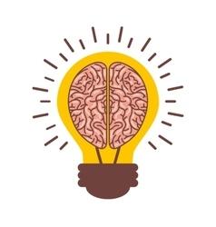 Human brain organ with bulb isolated icon vector